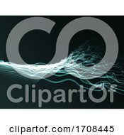3D Abstract Background With Flowing Twisted Strands