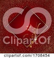 Decorative Background With Golden Floral Frame