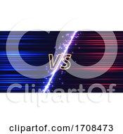 Versus Screen With Neon Glow Effect