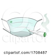Poster, Art Print Of Face Mask And Smoking Joint