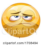 Poster, Art Print Of Yellow Smiley Emoji With A Look Of Dispair