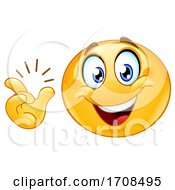 Poster, Art Print Of Yellow Smiley Emoji Snapping His Fingers