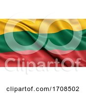 3D Illustration Of The Flag Of Lithuania Waving In The Wind