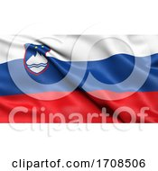 3D Illustration Of The Flag Of Slovenia Waving In The Wind