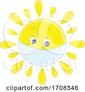 Spring Or Summer Sun Mascot Wearing A Mask by Alex Bannykh