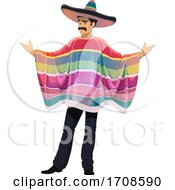 Mexican Man With Open Arms by Vector Tradition SM