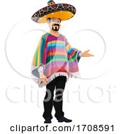 Mexican Man Presenting by Vector Tradition SM