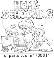 Black And White Mother Home Schooling Her Children