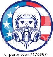 American Industrial Worker Wearing RPE Mascot