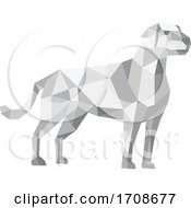 Labrador Standing Low Polygon