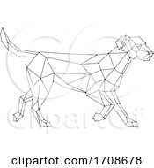 Labrador Side View Low Polygon