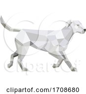 Labrador Walking Low Polygon