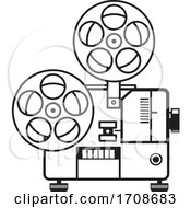 Vintage Movie Film Projector Retro Black And White