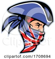 Highwayman Wearing Union Jack Bandana Side Mascot by patrimonio