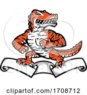 Poster, Art Print Of Gator With Tiger Stripes On A Ribbon