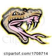 Angry Okinawa Habu Snake Head Mascot