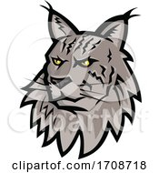 Maine Coon Cat Head Mascot