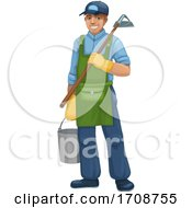 Happy Male Landscaper Or Gardener