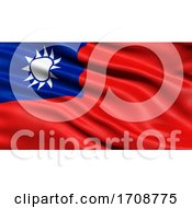 3D Illustration Of The Flag Of Taiwan Waving In The Wind