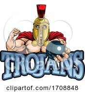 Poster, Art Print Of Trojan Spartan Bowling Sports Mascot
