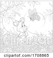 Poster, Art Print Of Mouse And Butterfly
