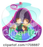 Stickman Family Floater Slide Illustration