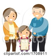 Poster, Art Print Of Stickman Kid Parents Award Illustration