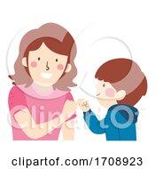 Kid Boy Mom Pinky Promise Illustration