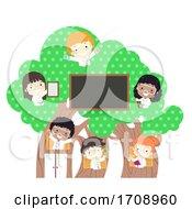Kids Scientists White Coat Tree Illustration