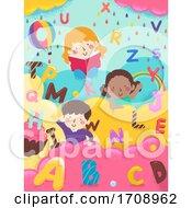 Kids Alphabet Sweets Letters Illustration