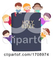 Kids Wave Holy Bible Illustration