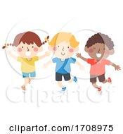 Kids Hop On Your Right Foot Illustration