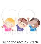 Poster, Art Print Of Kids Raise Your Right Hand Illustration