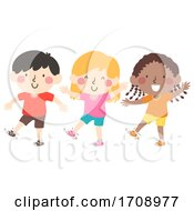 Kids Shake Your Right Foot Illustration