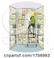 Man Stickman Herpetology Inventory Illustration