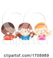 Kids Wave With Your Left Hand Illustration