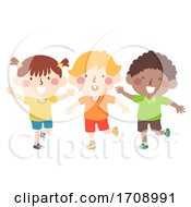 Kids Stand On Your Right Foot Illustration