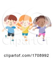 Kids Stand On Your Left Foot Illustration
