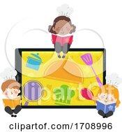 Kids Chef Tablet Books Illustration