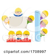 Kids Construction Engineers Borders Illustration