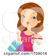 Girl Gift Card Illustration