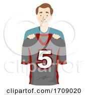 Man Father Football Jersey Illustration