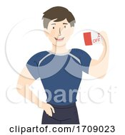 Man Fitness Discount Coupon Illustration