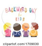 Kids Backward Day Illustration