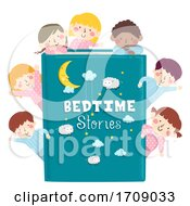 Kids Pajama Book Bed Time Stories Illustration