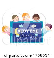 Kids Pajama Bed Time Stories Illustration