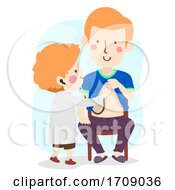 Kid Boy Role Play Doctor Dad Patient Illustration