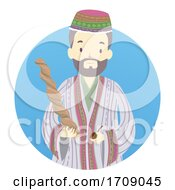 Man Shaman Ayahuasca Illustration