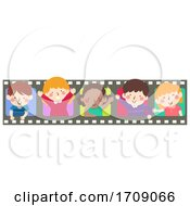Kids Film Peek Wave Illustration