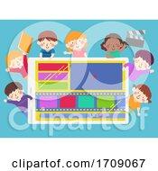 Kids Film Production Tab Edit Illustration